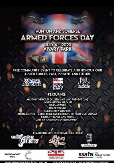 Covid 19 cancelledTaunton and Somerset Armed Forces Day